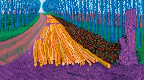 winter timber 2009 by david hockney