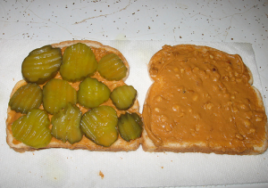 pickles and peanut butter