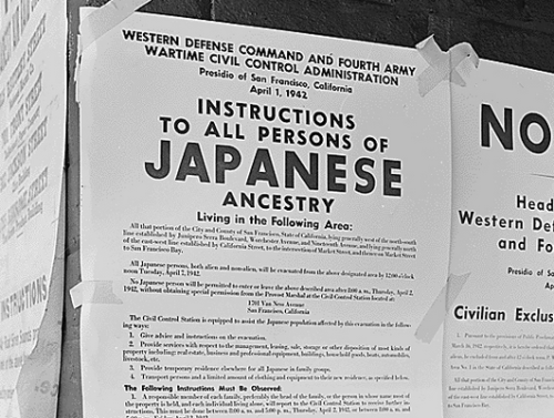 Japanese Internment Notice